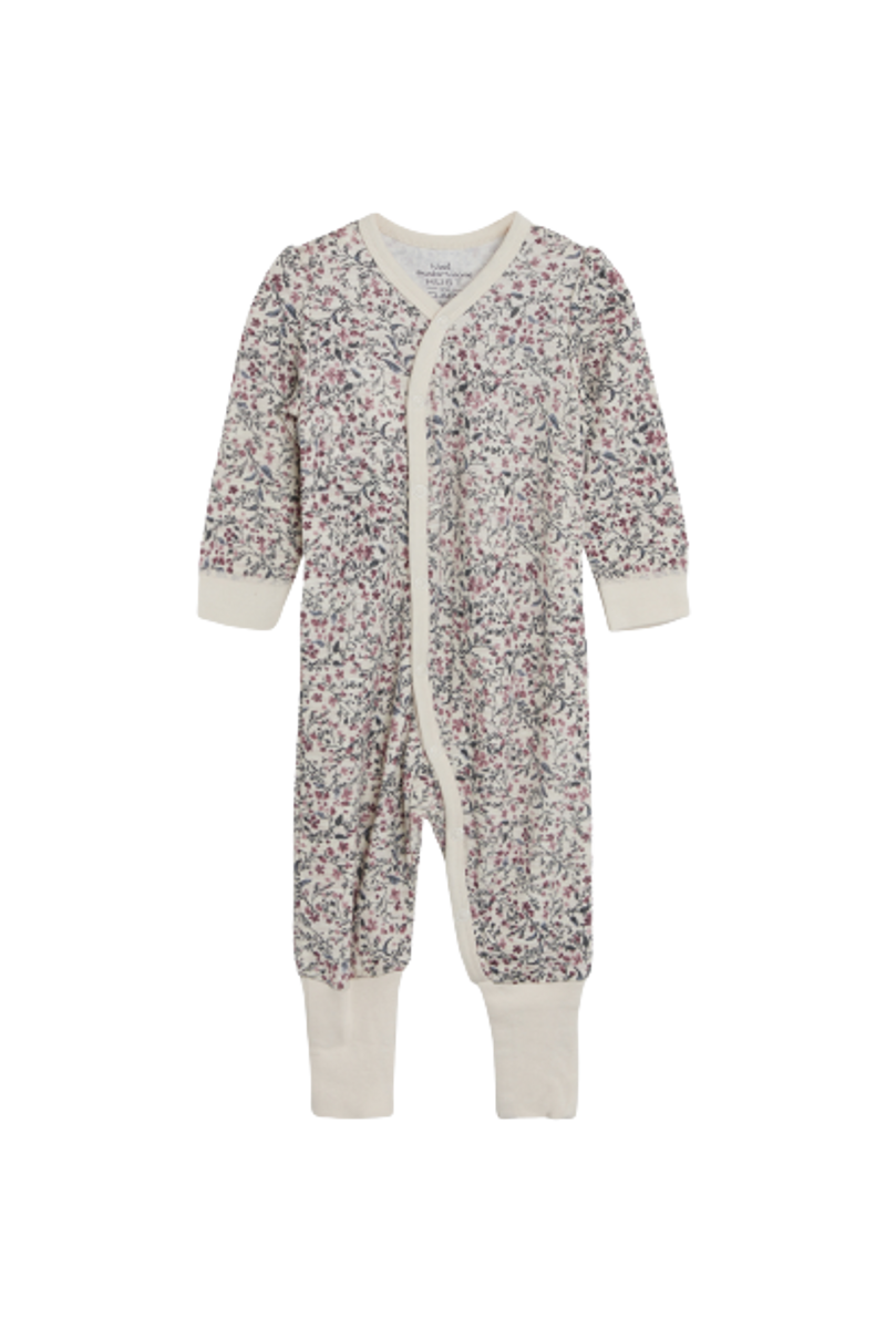 Hust & Claire Manui Flower ull/bambus heldress - wheat