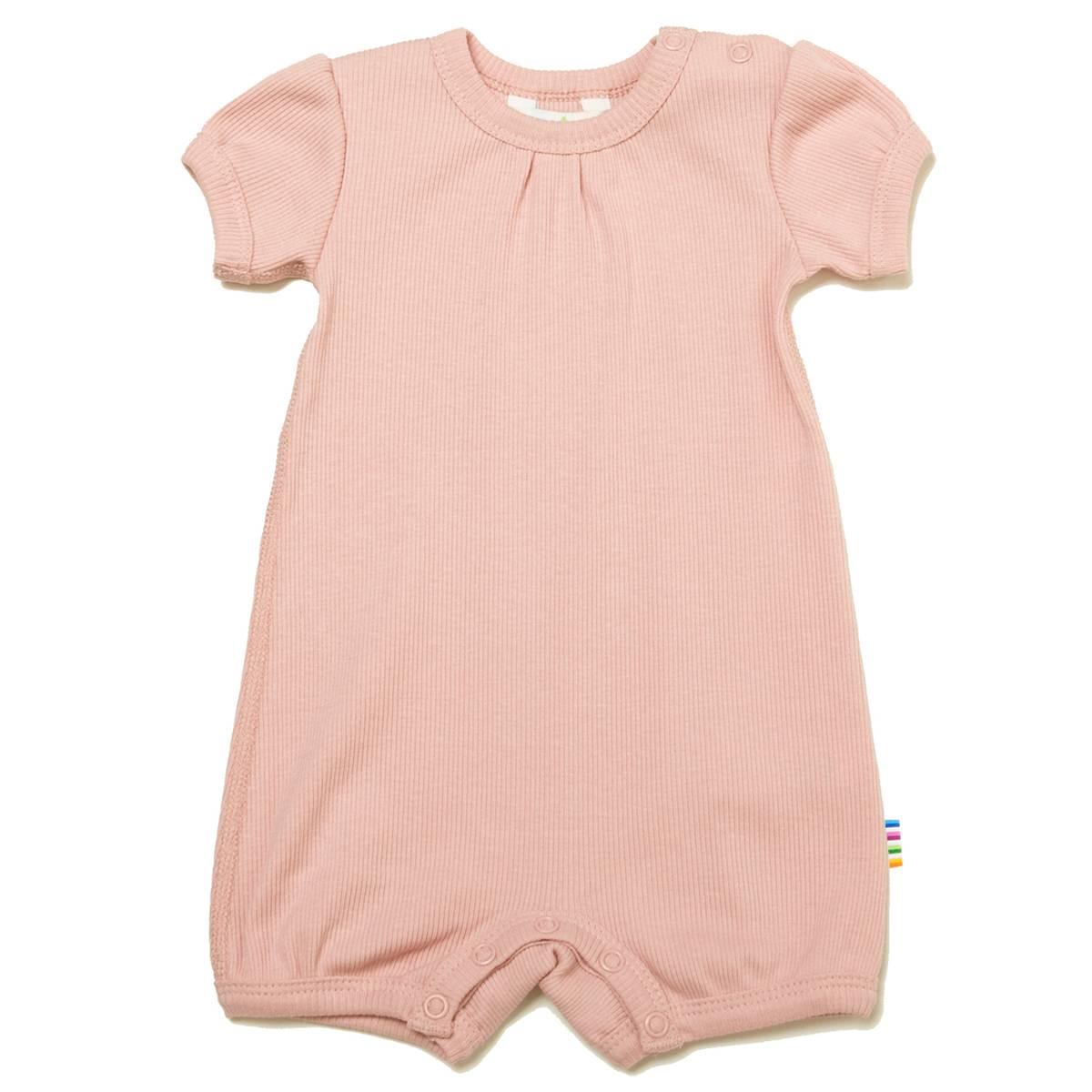 Joha Cotton Rib romper -pastell rosa