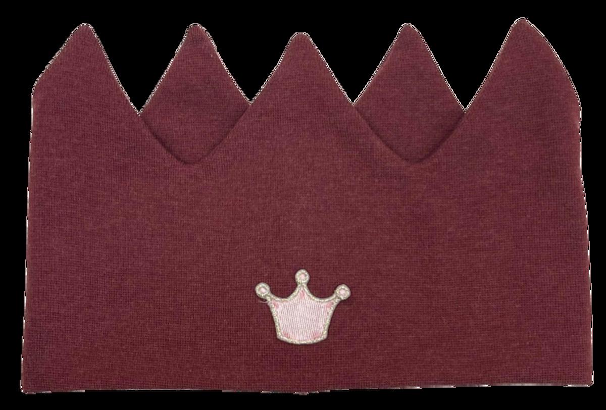 Kivat pannebånd krone - burgunder