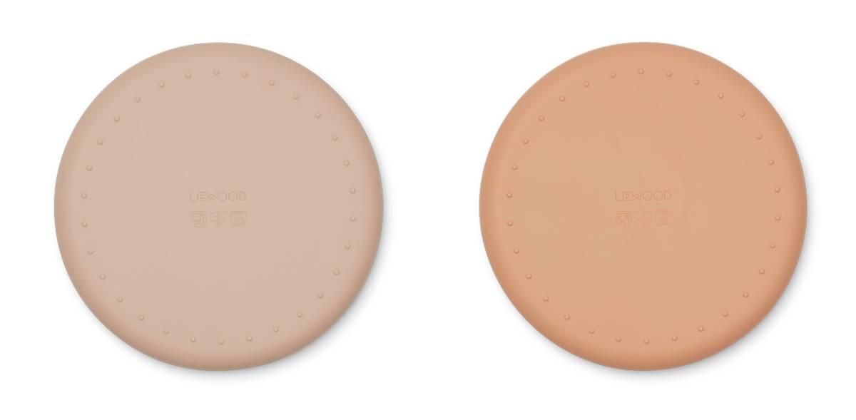 Liewood Harvey divider plate 2 pk - rose mix