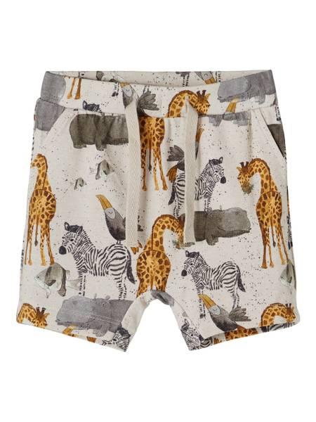 Bilde av Name It Jelix baby shorts - peyote melange