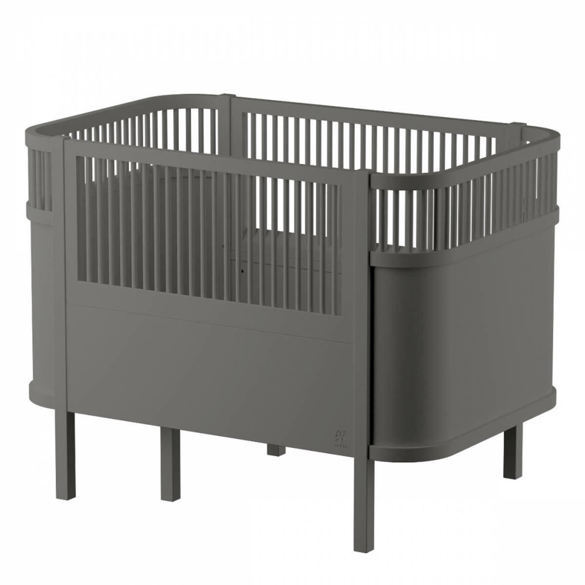 Sebra Baby- og Juniorseng, Classic Grey